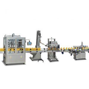 Пълни автоматични машини за пълнене на бутилки 2 в 1 sus304 за приготвяне на зехтин