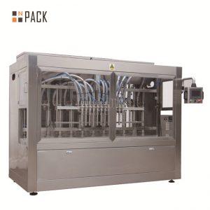Автоматична машина за пълнене с 8 дюзи с течност / паста / сос / мед