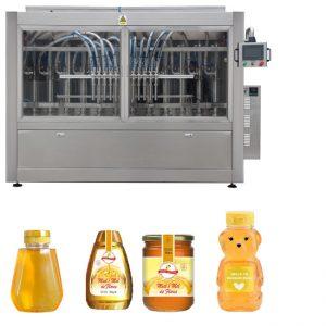 Автоматично серво бутало тип сос сладко от мед с висока вискозитет, пълнене с капачки, етикетиране на линия на машината